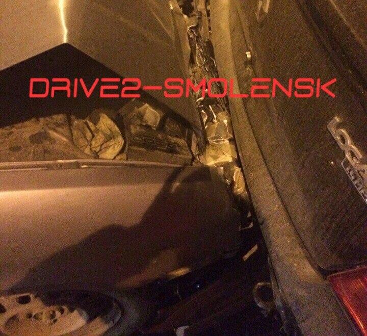 ДТП наРославльском шоссе. 4 авто вступили в«битву»