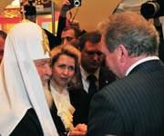 Святейший Патриарх Московский и всея Руси Кирилл и губернатор Смоленской области Сергей Антуфьев