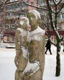 Сквер на улице Октябрьской революции в Смоленске
