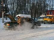 Снежные завалы в Смоленске