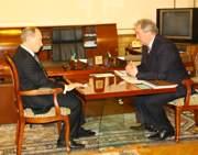 Встреча Владимира Путина и Сергея Антуфьева