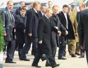 В Катыни Путин и Туск заложили камень в основание храма