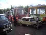 Авария с участием трамвая в Смоленске
