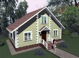 Проект каркасно-панельного дома