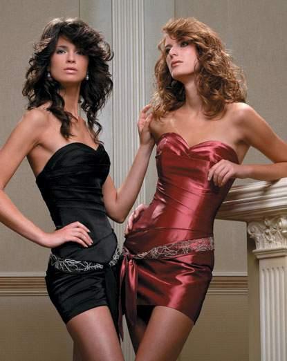...этого специально заказали 3 черных коротких платья Папилио.  Вот эти.
