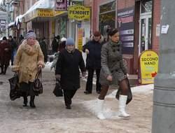 Лед на тротуарах