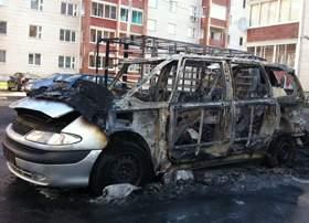 Сгоревшая машина