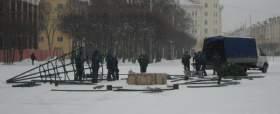 В Смоленске устанавливают главную елку области