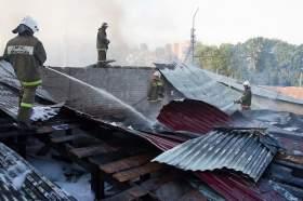 Крупный пожар в Смоленске