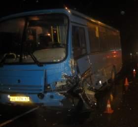 В ДТП с автобусом в Серебрянке пострадали четыре человека
