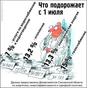 В Смоленской области тарифы на услуги ЖКХ корректировать не будут