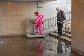В Смоленске затопило подземный переход на площади Победы