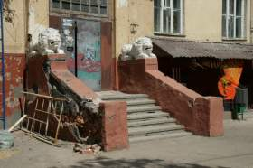 В «доме со львами» в Смоленске отремонтируют крыльцо