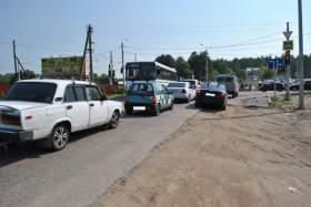 Движению на Досуговском шоссе мешает светофор?