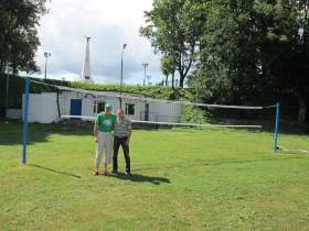 В Лопатинском саду открылась волейбольная площадка