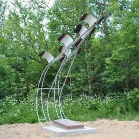 Над Смоленском «взлетели» белые журавли