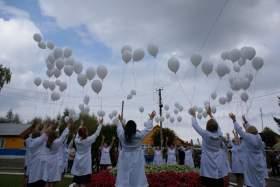 В Сычевке прошел парад медработников