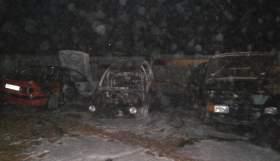 В Рославльском районе сгорели три автомобиля