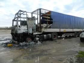 В Смоленском районе сгорел тягач