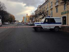Улицу Дзержинского перекрыли из-за сообщения о бомбе