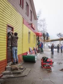 В Смоленске начали демонтаж незаконно возведенной пристройки