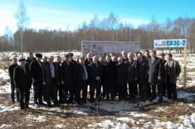 Работники концерна «Росэнергоатом» посетили площадку будущего строительства Смоленской АЭС - 2