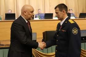 Сотрудника смоленского УФСИН наградили медалью