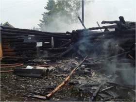 В Смоленском районе сгорел дом