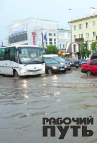 Сильнейшие ливни обрушились на Смоленск