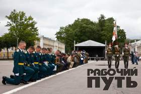 Выпуск курсантов Смоленской военной академии