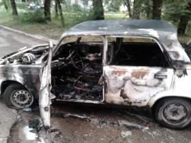 В Рославле сгорел автомобиль