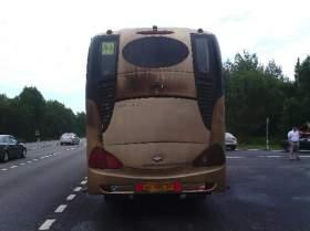 В Смоленской области загорелся автобус, перевозивший детей